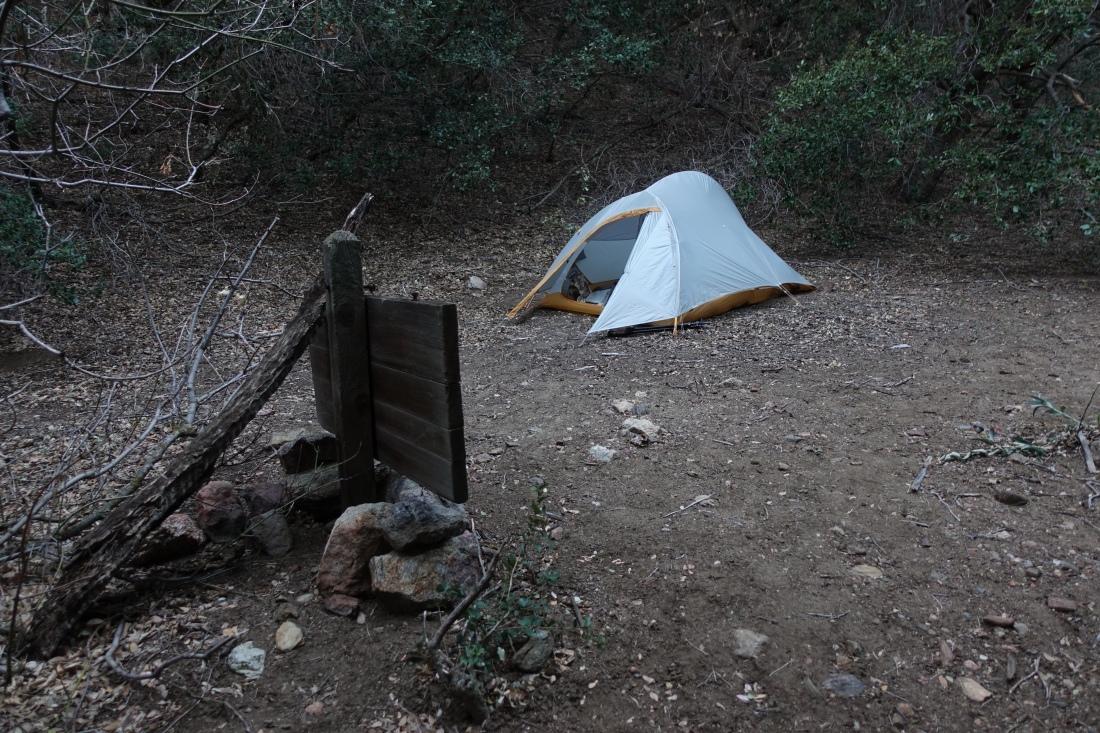 Camp at Live Oak Spring